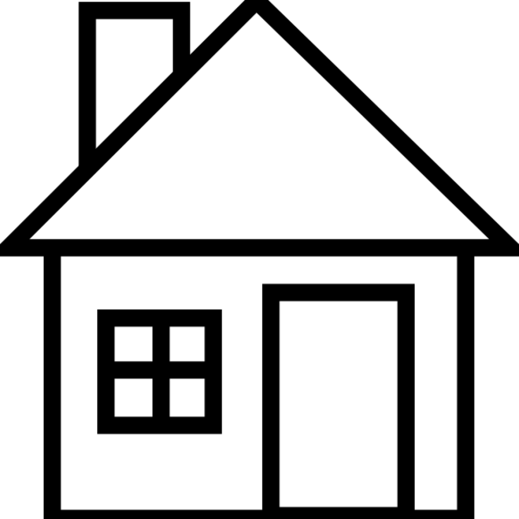 Houses Clipart Black And White