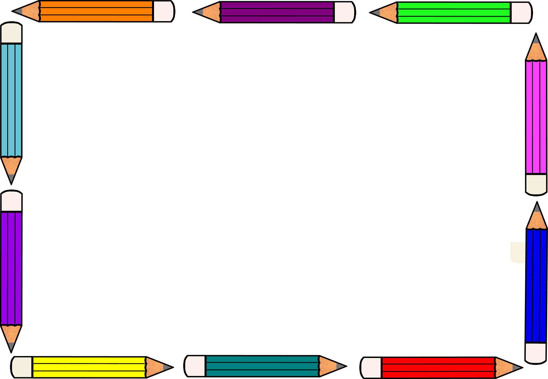 Pencil border clip art. Crayon clipart borders