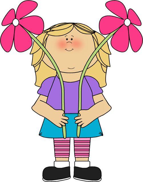 Flower girl clip art. Clipart kids knee