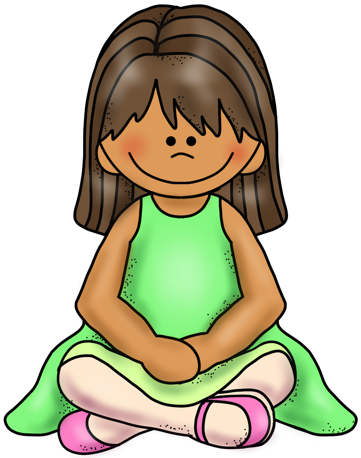 Sitting criss cross applesauce. Young clipart sit