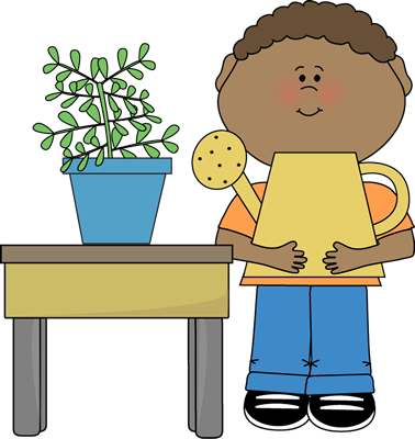 Boy classroom plant clip. Lunchbox clipart helper