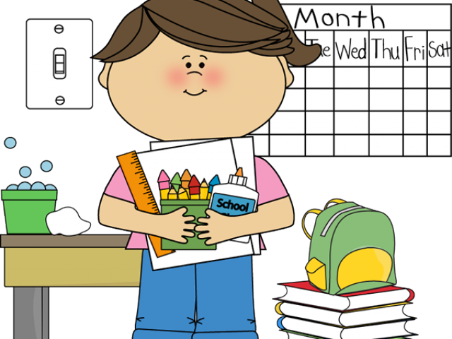 Organized clipart organized student. Kids in classroom free