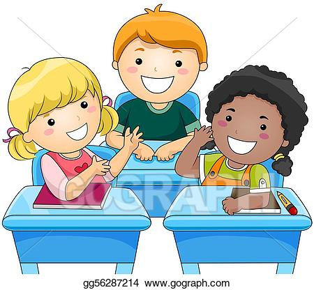 Stock illustration gg gograph. Classroom clipart classroom discussion