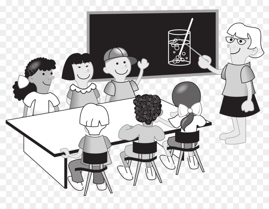 Classroom clipart classroom discussion. School black and white