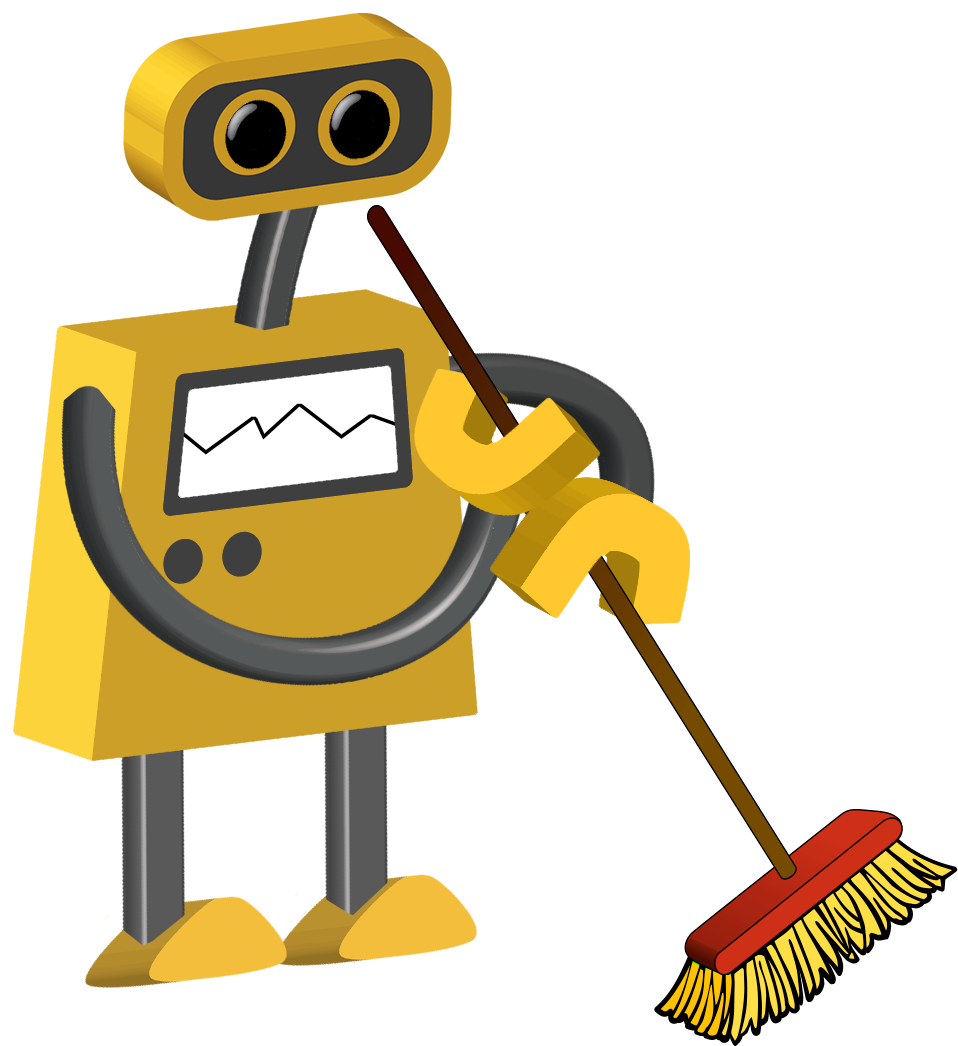 Clipart road robot. Color cartoons tim janitor