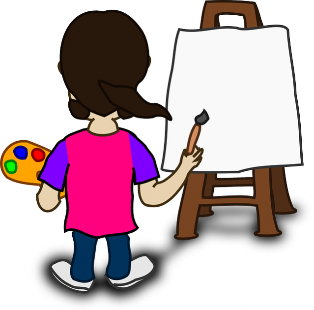 Pursue an artistic career. Careers clipart painting