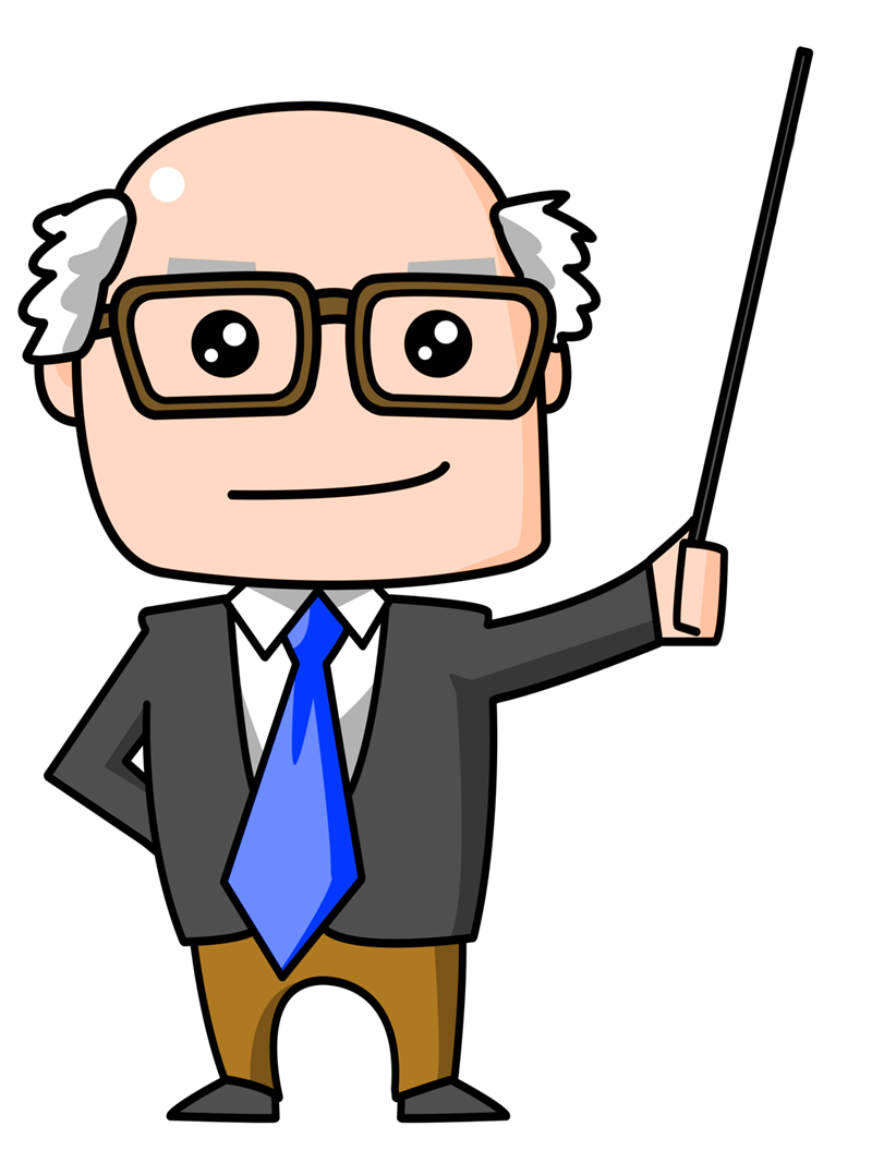 Un tema nada dura. Manager clipart guy teacher