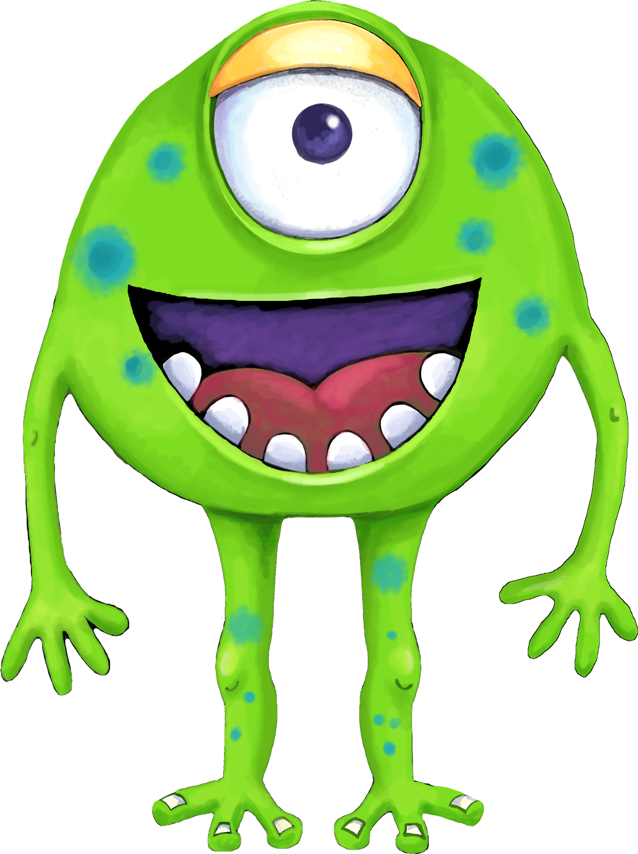 Letter clipart monster. Free green ii png