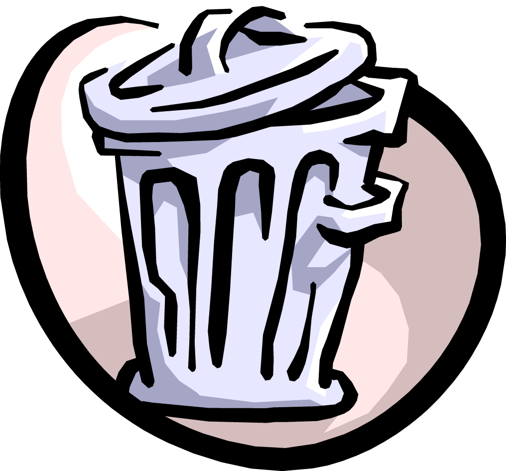 Garbage clipart classroom. Trash can at cool