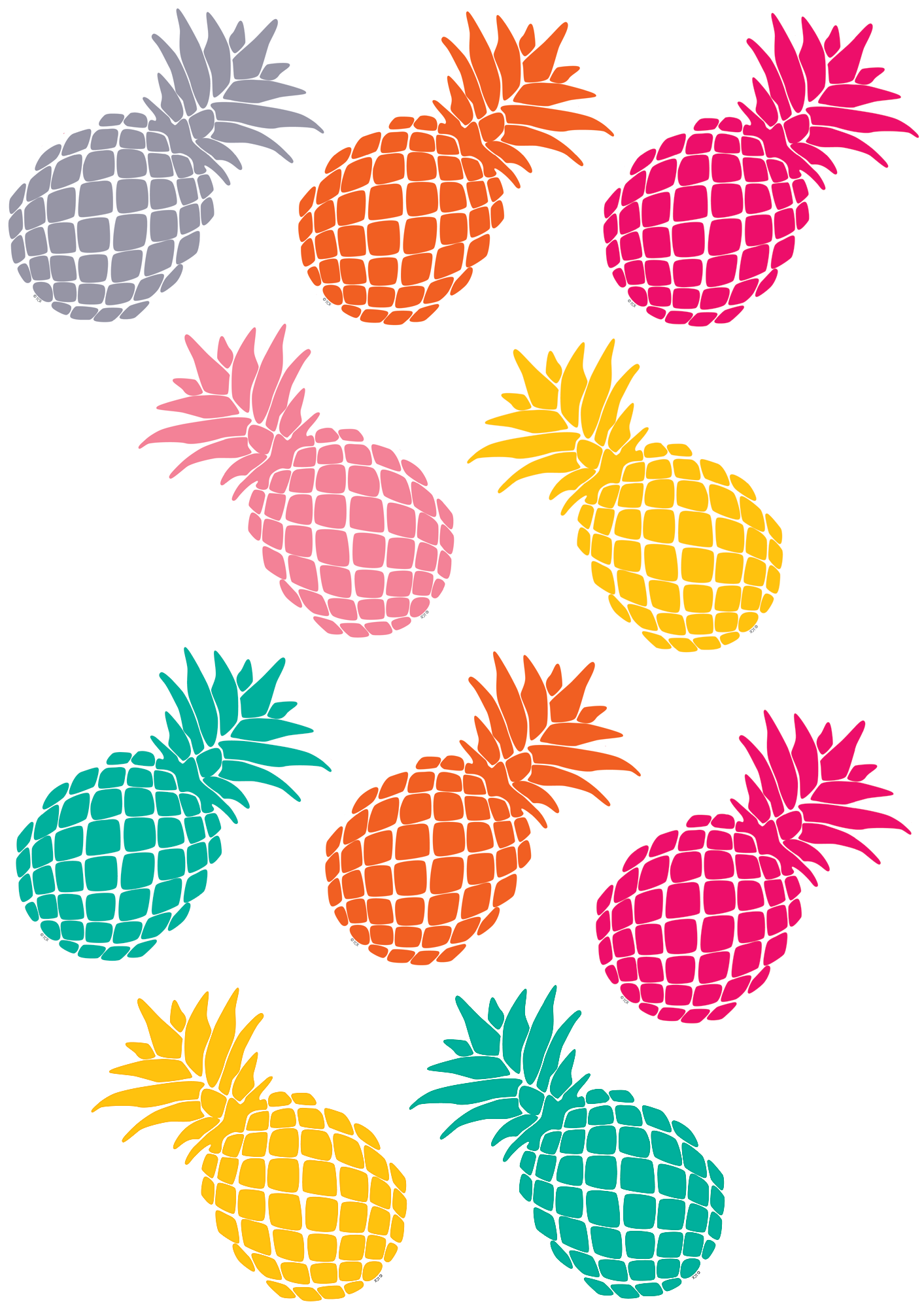 Tropical punch pineapples accents. Pineapple clipart pdf