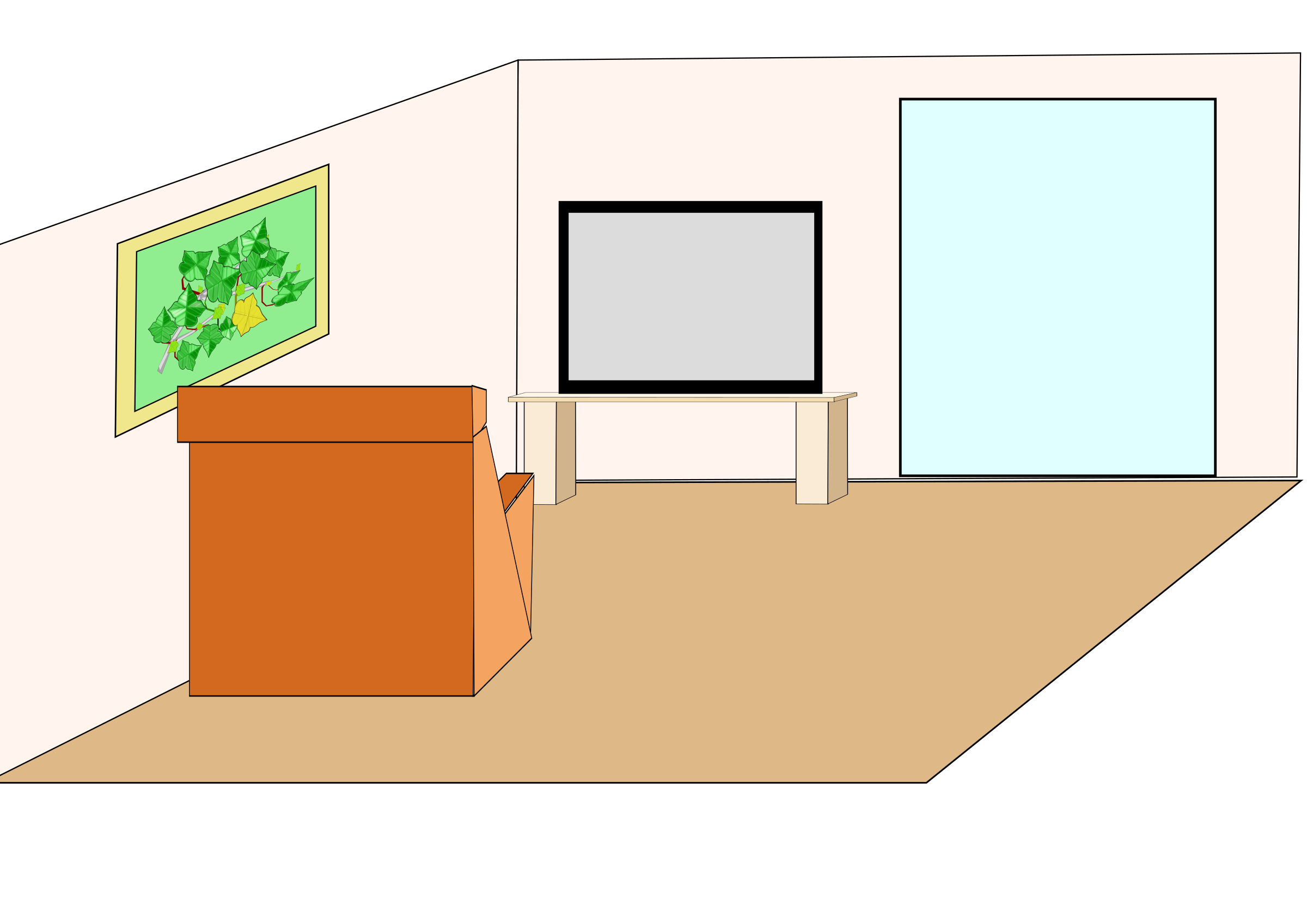 Clean clipart bed room. House interior at getdrawings