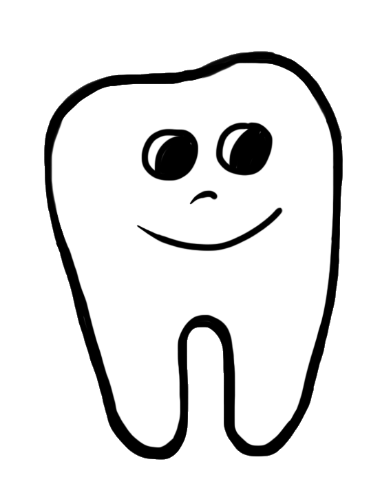 Tooth images clip art. Pajamas clipart black and white