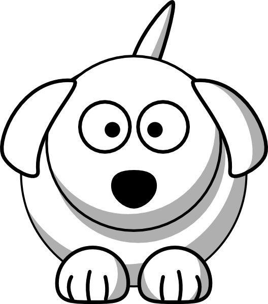 Dog face cute clip. Student clipart outline