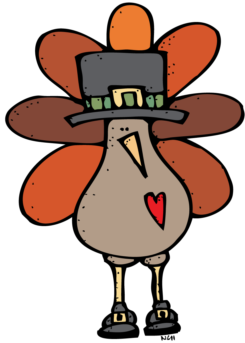 Pilgrim turkey clip art. Holiday clipart holiday card