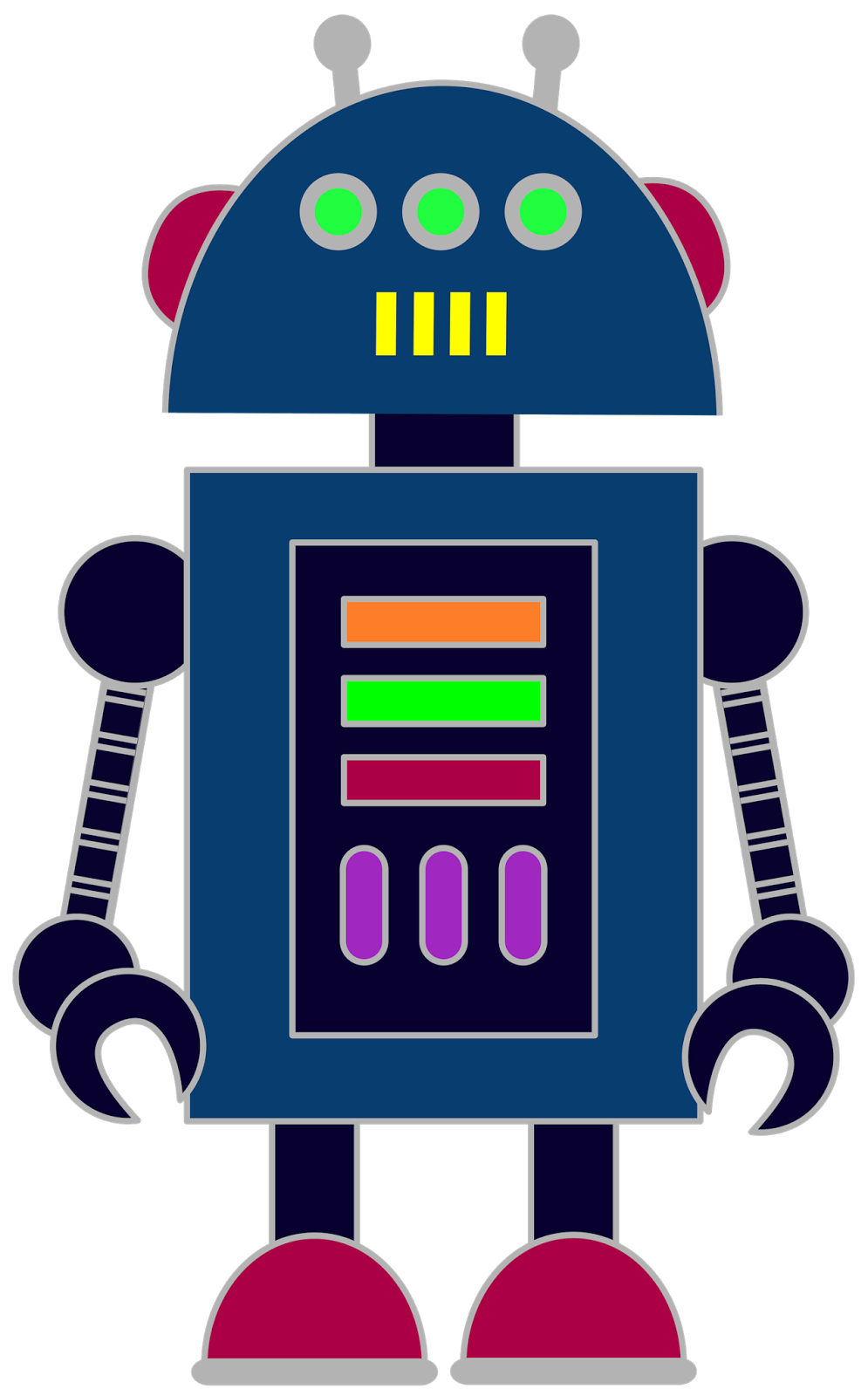 Free robot clip art for classrooms, teachers and parents. | Escuela ...