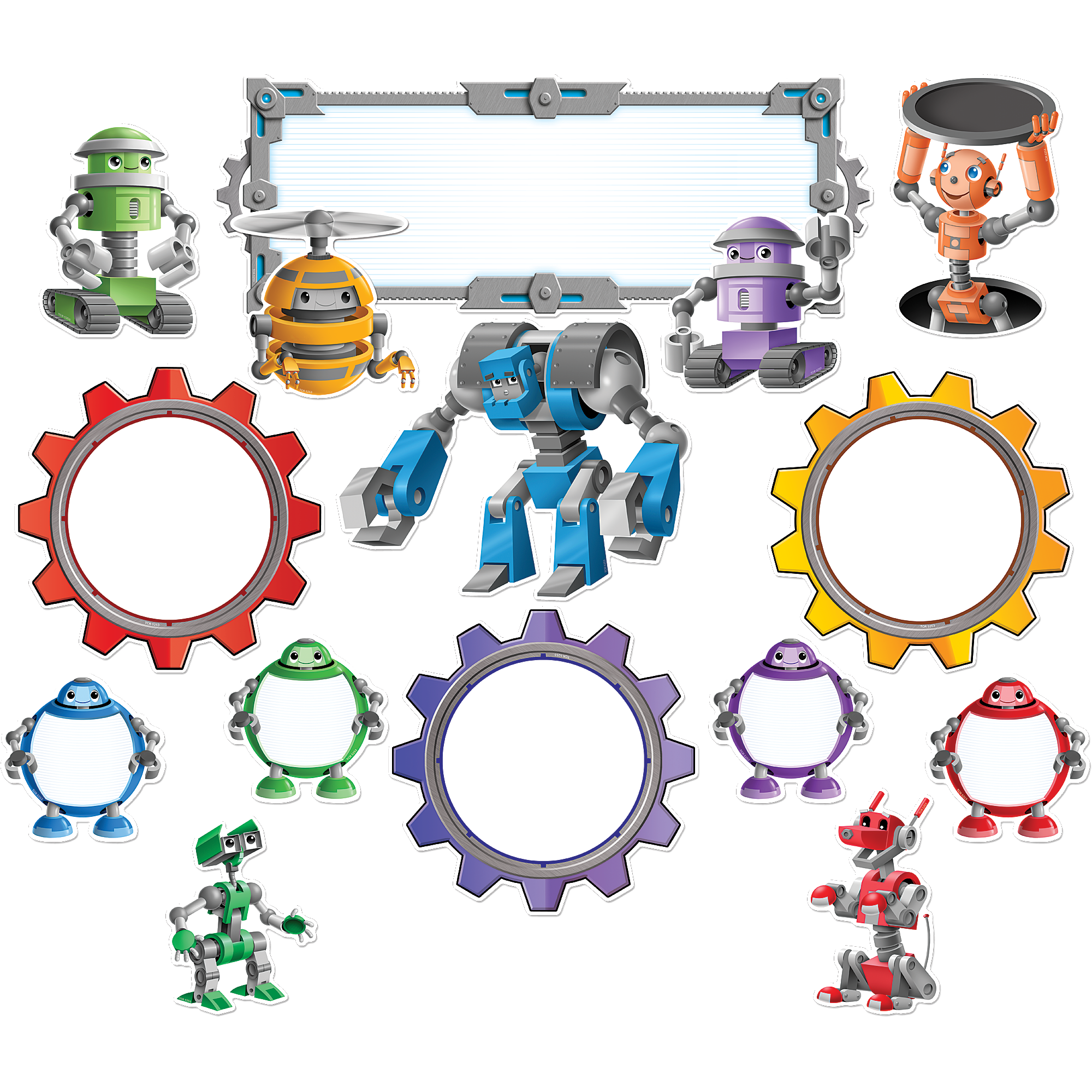 Robots bulletin board display. Storytime clipart mat time