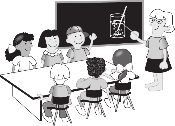 Free black and white. Classroom clipart outline