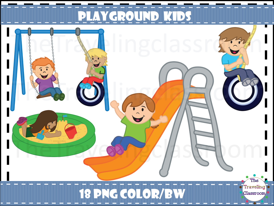 Kids clip art the. Playground clipart classroom