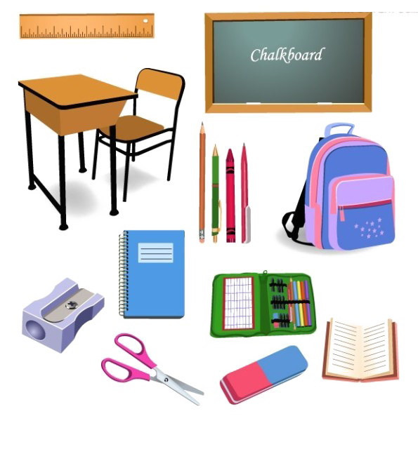 Furniture clipart object. Student school classroom clip