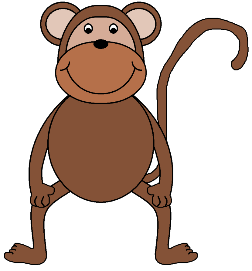 Environment clipart morning. Clean monkey clip art