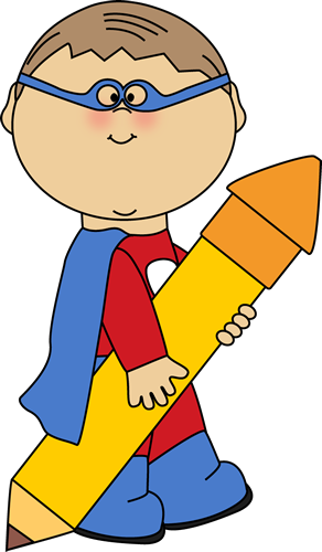 Student clipart superhero. Cute super hero clip