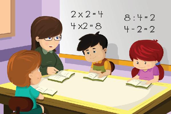 Clipart homework classroom. Teacher and student in