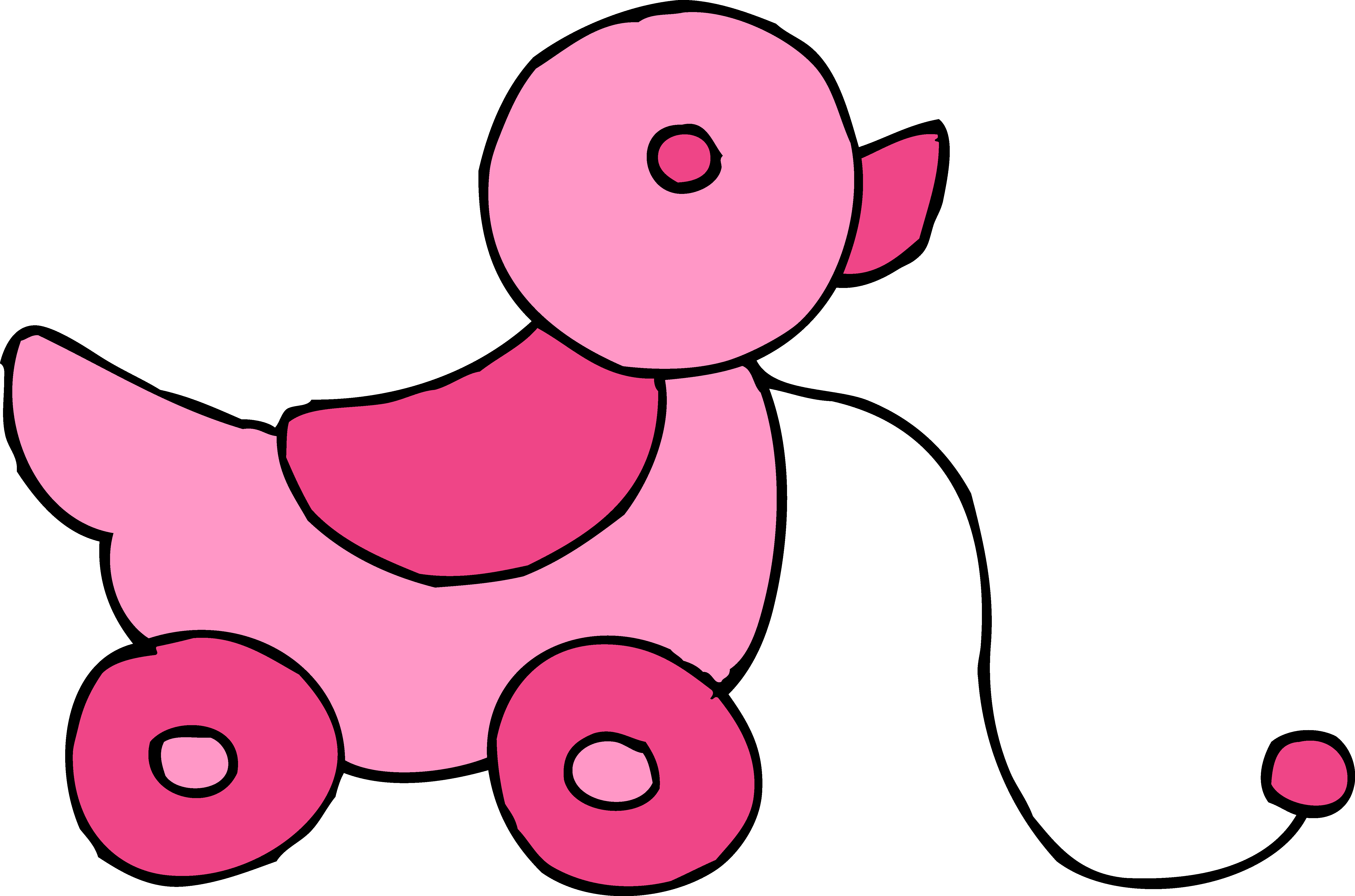 Toy clip art free. Wednesday clipart pink