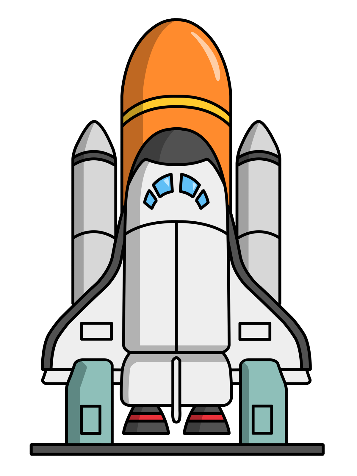 Free domain clip art. Clipart rocket space transportation