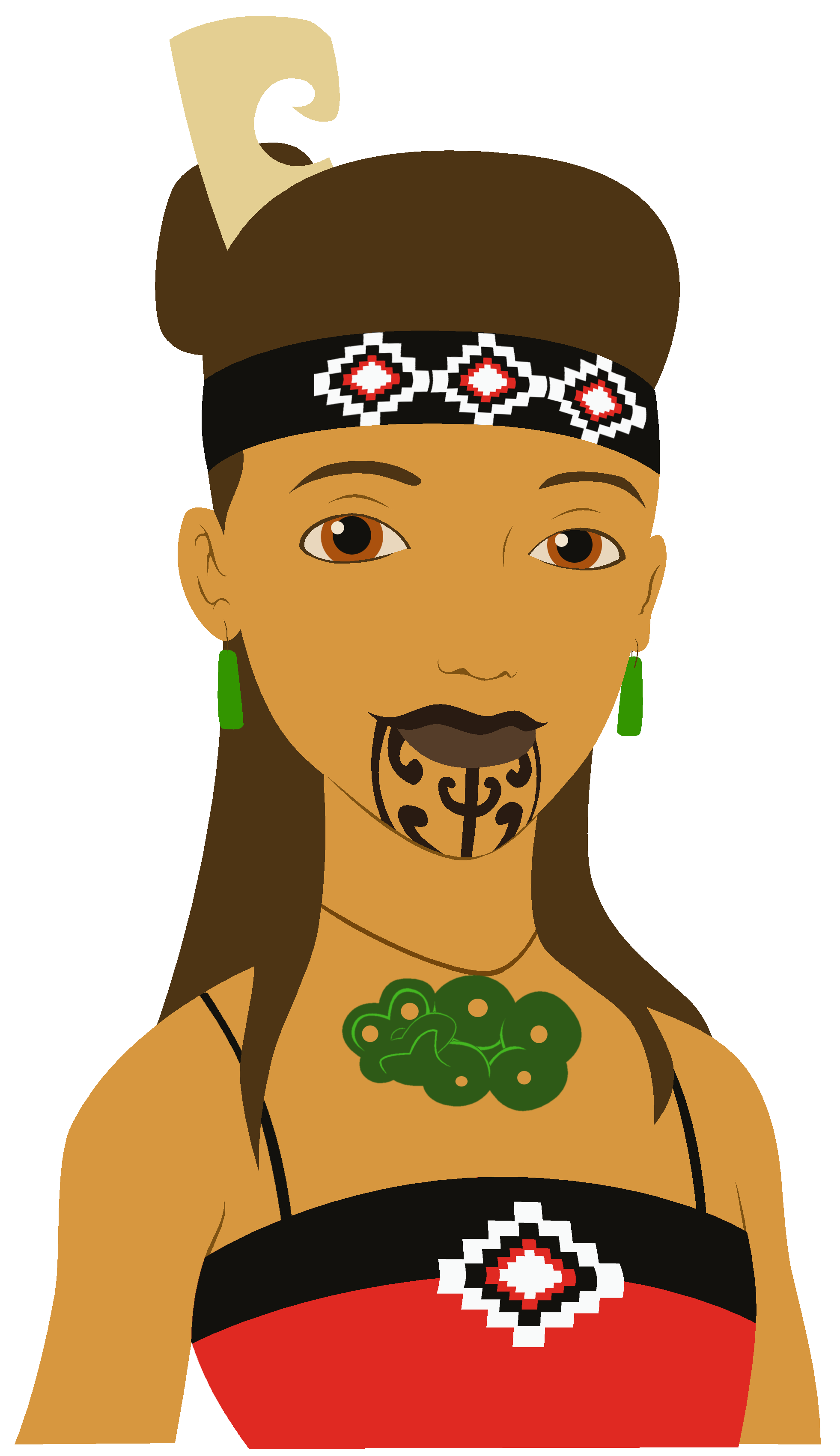 Image result for maori. Culture clipart traditional clothing