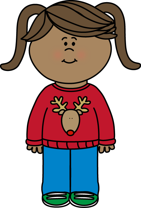 Free christmas sweater clip. Clipart backpack child carrying