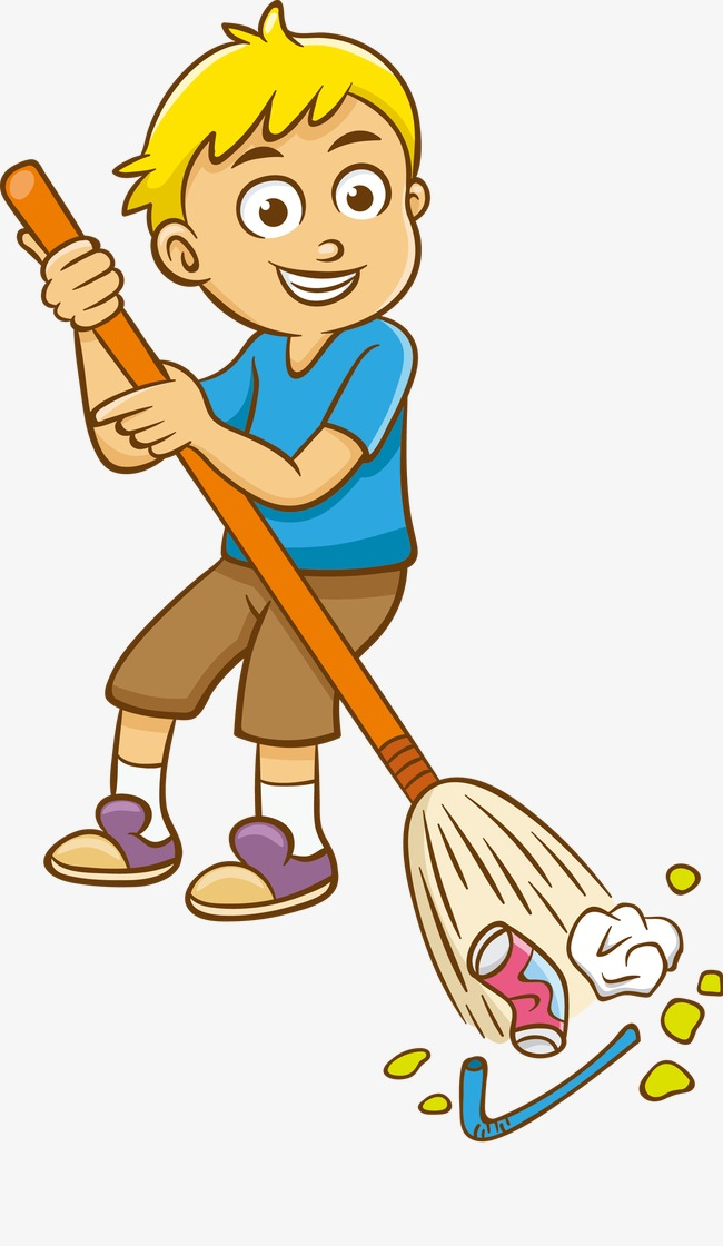 Clean clipart. Sweep the floor health