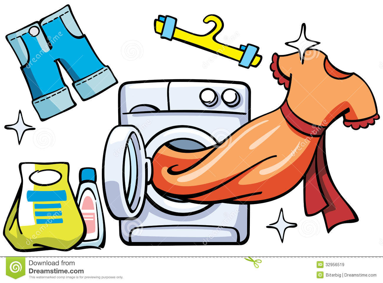 Clean clipart. Clothes