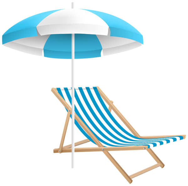 Ocean clipart vast. Beach chair and umbrella