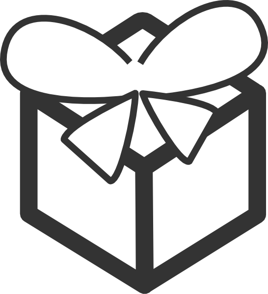 Gift variation clean clip. Cleaning clipart black and white