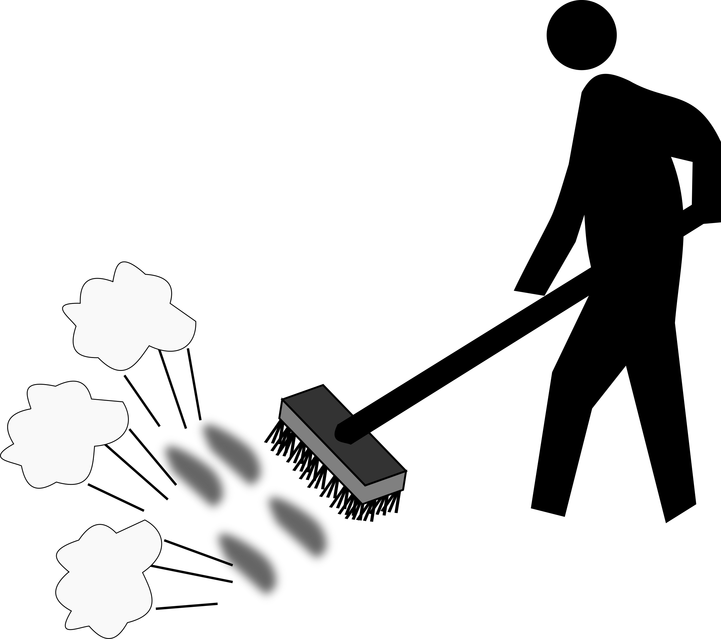 Sweeping png transparent this. Dust clipart black and white