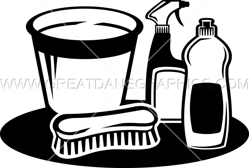 Clean clipart bucket. Cleaning supplies production ready