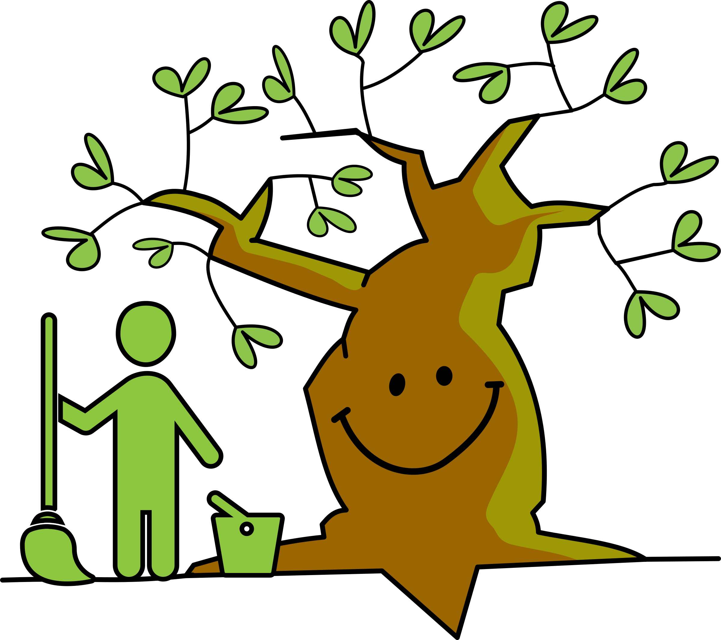 Clean nature big image. Clipart smile tree