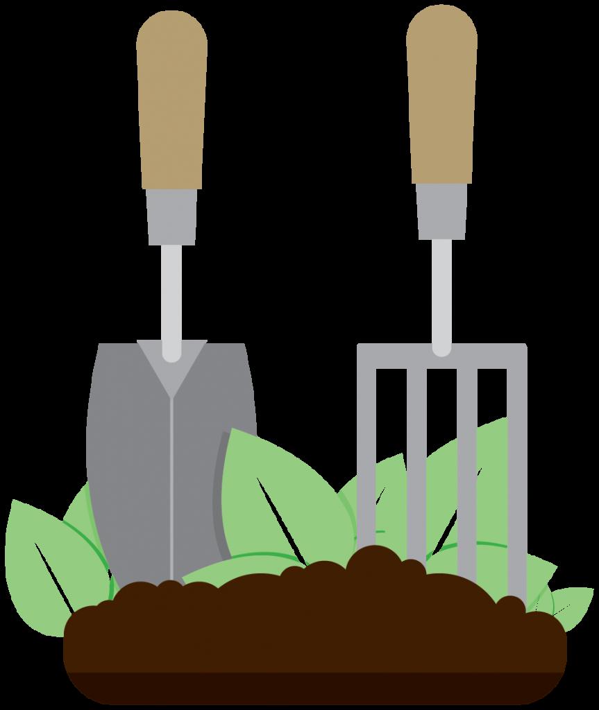 reasons why gardening. Working clipart garden work