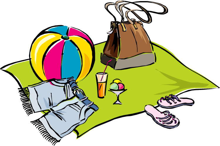 Cleaning up the beach. Volunteering clipart cartoon