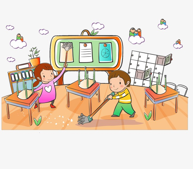 Cleaning clipart classroom, Cleaning classroom Transparent ...