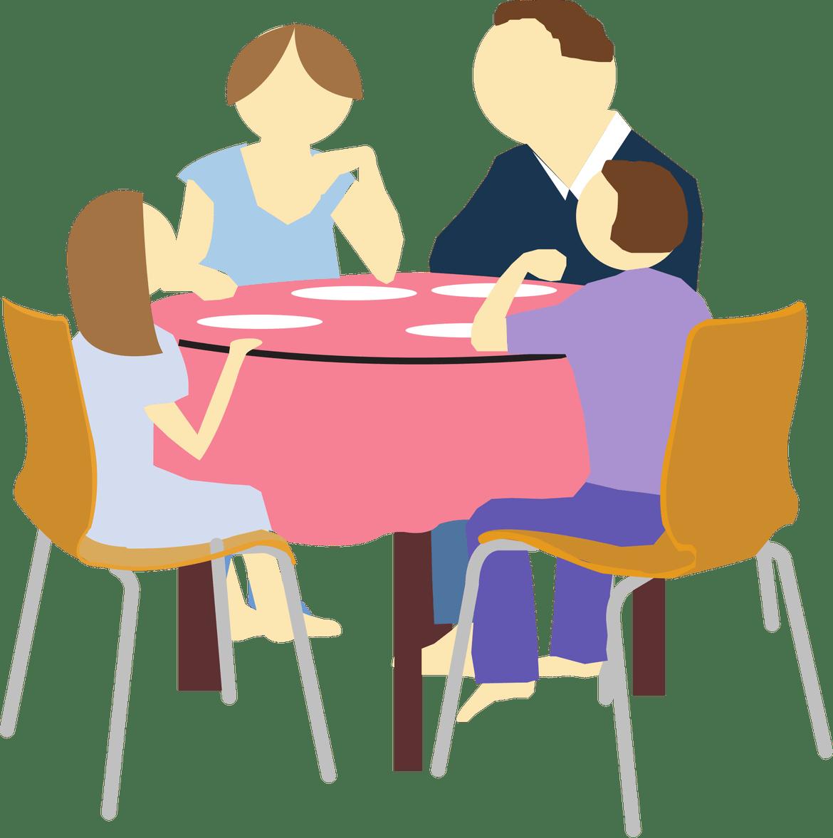 tips enjoy stress. Dinner clipart mealtime