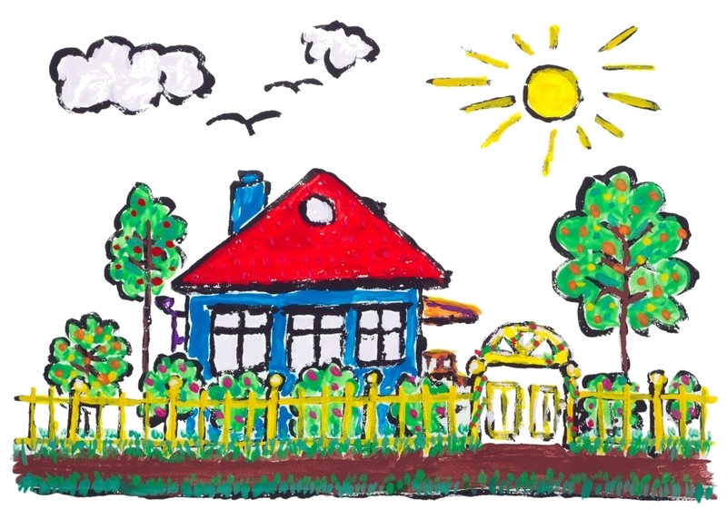 Draw clipart healthy child. Clean house drawing at