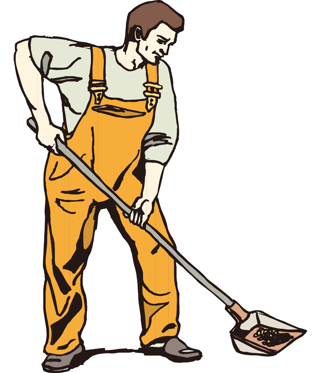 Snow removal clip art. Construction clipart shovel