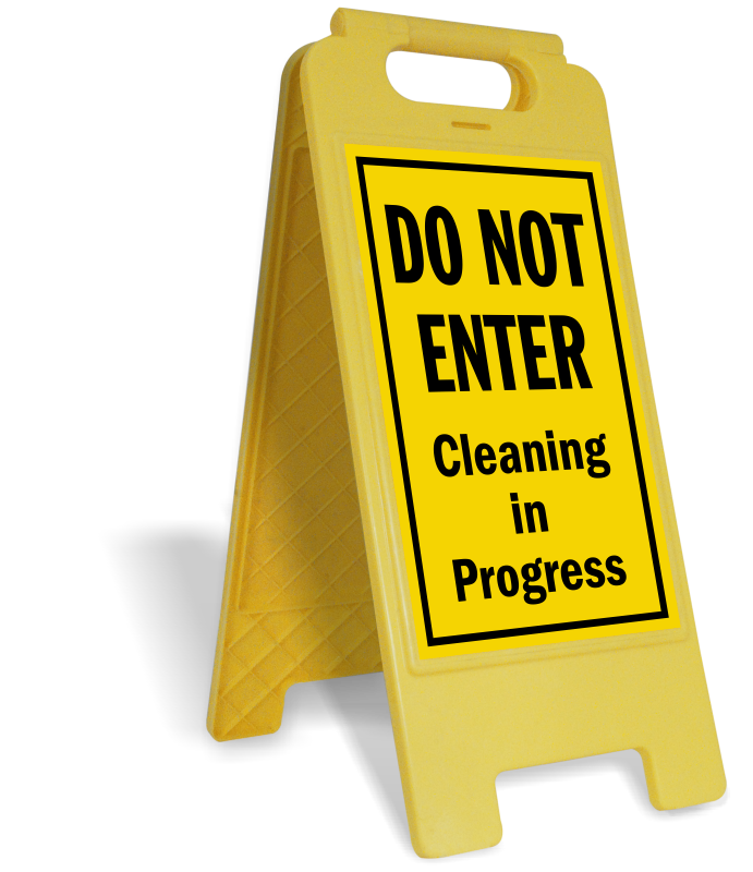 Clean clipart clean restroom. Closed for cleaning signs