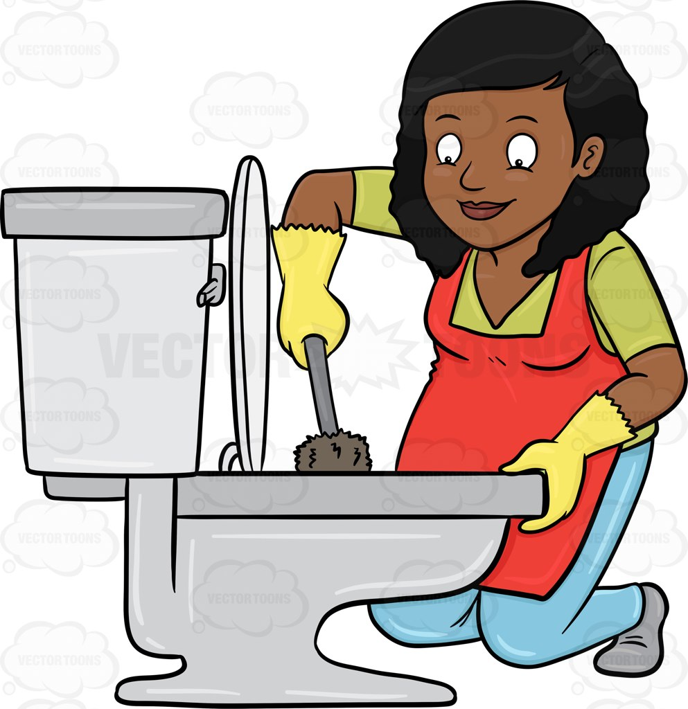 Cartoon free download best. Maid clipart cleaning bathroom
