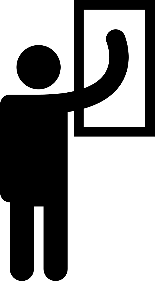 Man standing silhouette cleaning. Clean clipart clean whiteboard