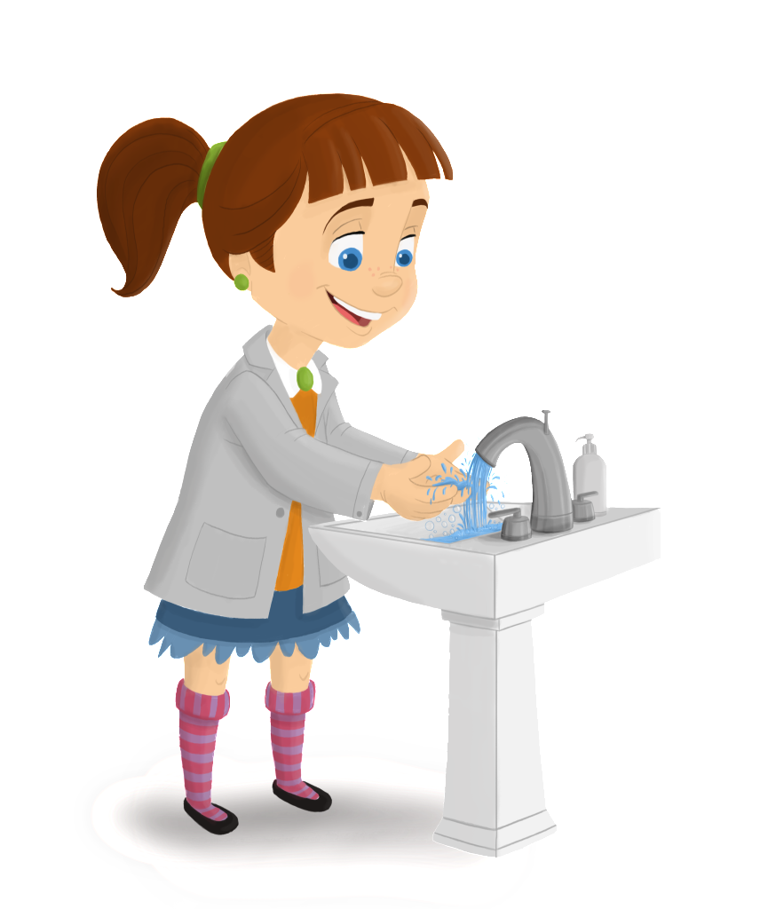 Handprint clipart helping hand. How to wash your
