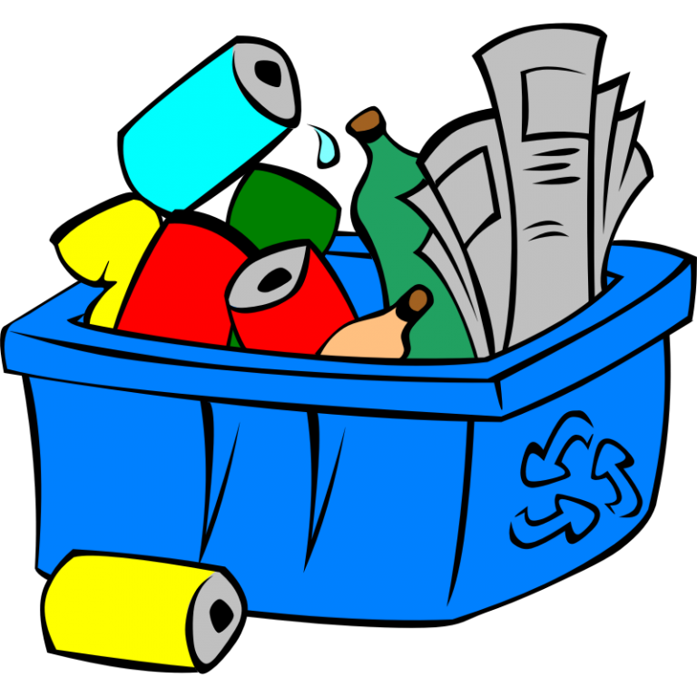 Magazine clipart recycling. Cleaning materials recycle clip