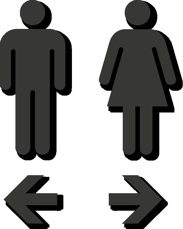Clipart bathroom bathroom stall. Die cut restroom sign
