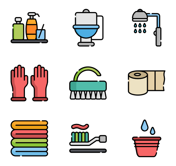 Clean clipart comfort room. Toilet icons free vector